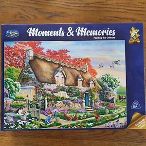 Holdson Moments & Memories Feeding The Chickens 1000 Piece Jigsaw Puzzle NEW
