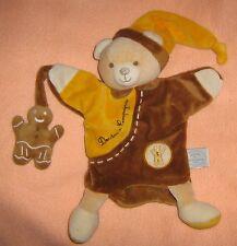 Doudou et compagnie Mario ours hochet avec grelot comme neuf
