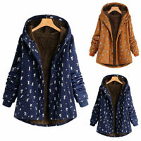 Women's Ladies Winter Warmer Hoodies Plus Size Overcoat Pattern Oversized Coats