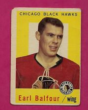 1959-60 TOPPS # 50 HAWKS EARL BALFOUR  GOOD CARD (INV# A131)