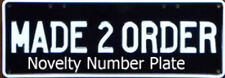 Custom Design Your Own Standard Novelty Number Plate With 1 Sticker Line