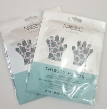 NailsInc London - Thirsty Hands Superhydrating Hand Masks - Lot of 2 Pairs