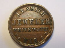 """Whitewater, WI J.T. Smith """"Jewelry Store"""" CWT Civil War Token WI960C-1a R5"""