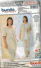 8976 UNCUT Burda SEWING Pattern Misses Pantsuit Jacket Pants 18 - 34 OOP SEW FF
