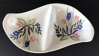 Vintage Red Wing Pottery Country Garden Divided Serving Dish 1950's Mid Century