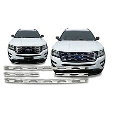 Chrome Grille Overlay Insert (4 Pieces Kit) FOR 2016 2017 Ford Explorer