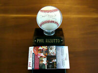 PHIL RIZZUTO HOF 94 NEW YORK YANKEES HOF MVP SIGNED AUTO OAL BASEBALL BASE JSA