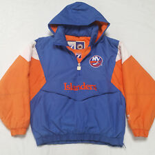Vintage NHL New York Islanders Pullover Hooded Winter Jacket Mens Large