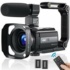 4K Video Camera Camcorder Ultra HD 60FPS 48MP YouTube Digital...