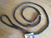 "Mendota British Slip Lead Dog Leash Collar Medium - Large 1/2"" x 6' Made in USA"