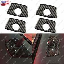 4Pcs Carbon Fiber Door Lock Pin Stickers Protection Cover Trim for BMW Universal