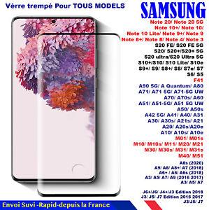 VERRE TREMPE SAMSUNG Note/20/10/9/8 S20 S8 S9 S10 A51 A50 A20 LITE E + ULTRA 5G