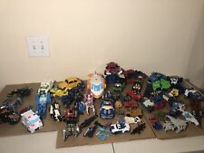 Huge Lot Of Vintage Transformer Toys Various years and conditions SEEPHOTO As is
