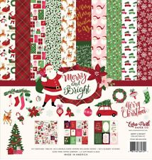 Echo Park - Merry And Bright Collection Kit 12x12 Papers + Stickers Christmas