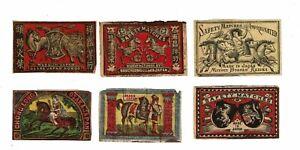 6 Old Japan c.1900s matchbox labels depicting Horses Mitsui  Bussan Kaisha etc