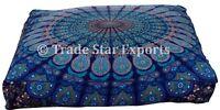 Large Mandala Box Floor Pillow Cases Boho Decorative Square Cotton Cushion Cover