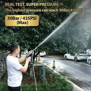0-15000mAh 30BAR Wireless Electric High Pressure Washer Car Wash Water Gun
