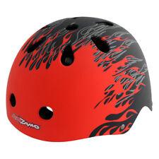 Kidzamo Skate Helmet Helmet Kidzamo Skate Sm-md Flame Rd/bk