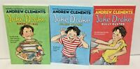 Lot of 3 Jake Drake by Andrew Clements class clown bully buster paperback New
