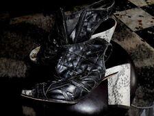 PONS QUINTANA superbes chaussures à talon cuir tressé point 37