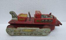 Vintage Rare Collectible Tin Toy Battery Operated Bulldozer Tin Toy