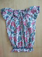 Damen Bluse Shirt, Gr. 36, geblumt