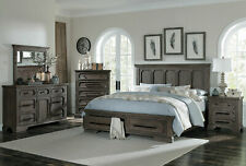 NEW Traditional Provincial Brown 5 pieces Bedroom Set w/ Queen Storage Bed IA63