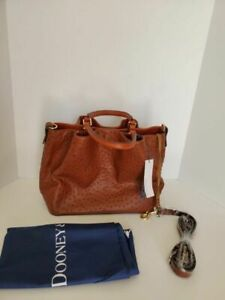 Dooney & Bourke Ostrich Large Brenna Hand Bag Purse Tote NWT