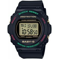 Casio Baby-G * BGD570TH-1 Special Color Black Digital Resin Watch for Women
