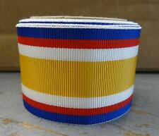 "12 "" REPLACEMENT RIBBON - YELLOW, WHITE, RED & BLUE FOR UNKNOWN MEDAL - #RB173"