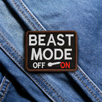 Beast Mold Embroidered Sew On Hook Loop Patch Badge Fabric Cap Bag Craft Sticker