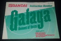 Galaga: Demons of Death Instruction Booklet Manual ONLY Nintendo NES