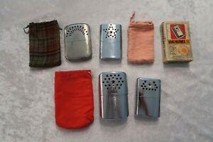 Vtg Hand Warmers Cigarette Lighter Chrome Abercrombie Jon-E Korea Hong Kong = 4