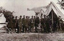 President Abraham Lincoln at Antietam Urging McClellan, Lee - Civil War Postcard
