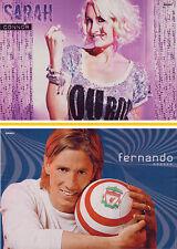 Doppio POSTER ~ Sarah Connor ~ Fernando Torres ~ 42 x 28 mm