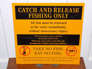 New York State Catch and Release Tin Sign