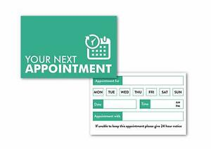 Appointment Card Meeting Reminder Cards for Business & Home Office