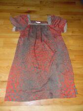 8b979c1f3b2 Romeo   Juliet Couture Women s Dress Sz Lg Red   Brown GOLD Metallic ...