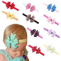 Infant Elastic Bow Knot Headband Hair Band Dot