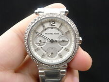NEW OLD STOCK MICHAEL KORS PARKER MK5615 DAYDATE SS QUARTZ LADY WOMEN WATCH