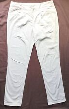 MONSOON Ladies Stone Beige Chino Trousers 12 R 40 Summer Cotton Ankle Length