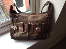 Radley Brown shoulder Bag with Spotty Dog Tag