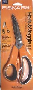 Fiskars Herb and Veggie Shears - Dishwasher Safe Take-Apart Kitchen Scissors NIP