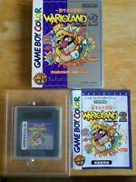 Wario Land 2 Game Boy Color Japan Import Comes w/ Game, Manual & Box! US Seller!