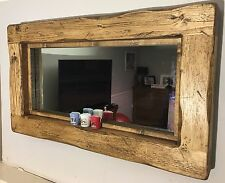 Mirror Rustic Mirror Farmhouse Mirror Reclaimed Mirror English Oak