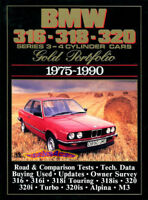 BMW 320i 318i BOOK PORTFOLIO GOLD BROOKLANDS M3 ALPINA BUYERS GUIDE 316 M3 75-90