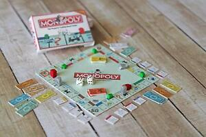 Dollhouse Miniature 1:12 Scale MONOPOLY Handmade Board Game Toy Box Replica Prop
