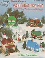 The Christmas Village Vol. 3 Houses Plastic Canvas Patterns ASN 3025 NEW