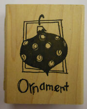 Rubber Stamp Christmas Ornament - PW E3121