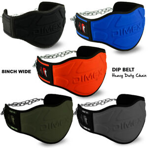 """Weight Lifting Dipping Dip Belt Body Building 8"""" Chain Exercise Gym Training NEW"""